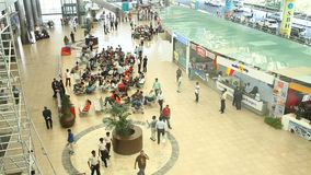 People in the air port stock footage