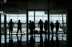 People in the airport Stock Photography