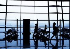 People at the airport Stock Photo