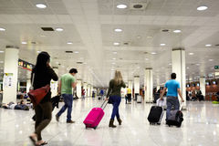 People in the airport. Royalty Free Stock Photo