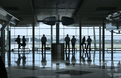 People in the airport. People waiting in the airport Royalty Free Stock Photo