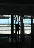 People in the airport Royalty Free Stock Image