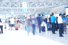 People in airport Royalty Free Stock Photos