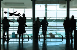 People in the airport Stock Photos