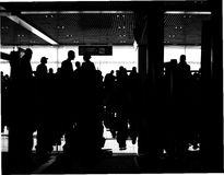 People in the airport Boryspol,  Ukraine Stock Photos