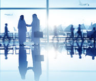 People Airport Business Travel Communication Agreement Concept Stock Photos