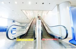 People at the airport escalator Stock Photography