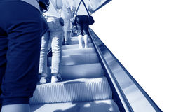 People at the airport escalator Royalty Free Stock Images