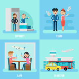 People In Airport Flat Concept Stock Photo