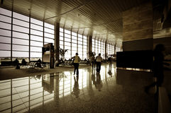People at airport interior Royalty Free Stock Photo