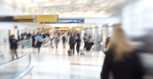 People at the airport - lens blurred Royalty Free Stock Photos