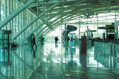 People in the  airport of porto Stock Photography