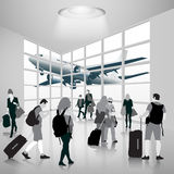 People in airport Stock Image