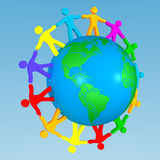 People all around the world. People all arount the world Stock Image