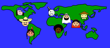 People all over the world Stock Images