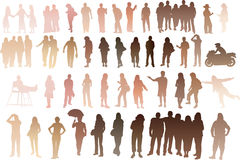 People of all skintones Royalty Free Stock Image