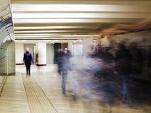 People are all somewhere in a hurry and in a hurry... Maybe each of them hurries to his dream Royalty Free Stock Photos