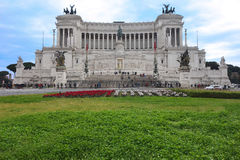 People at Altare della Patria Monument in Rome Royalty Free Stock Photos