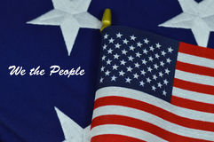 We the People with American Flag Royalty Free Stock Photography
