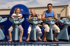 People in amusement parc Stock Photos