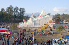 People in amusement park in Kathmandu, Nepal Royalty Free Stock Images
