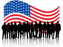 People And Flag Royalty Free Stock Photography