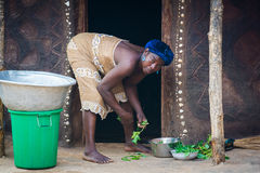 People in ANEHO, TOGO Royalty Free Stock Photos