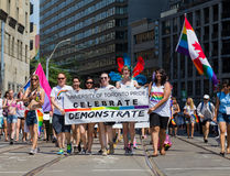 People at the Annual Dyke March in Toronto Royalty Free Stock Images