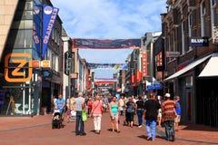 People at Apeldoorn Markstraat main street Royalty Free Stock Images