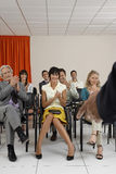 People Applauding A Speaker In Conference Room Royalty Free Stock Photos