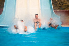 People at aqua park Royalty Free Stock Photography