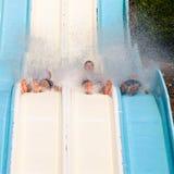 People at aqua park stock photos