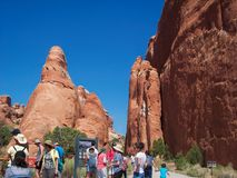People at the Arches National Park Royalty Free Stock Images