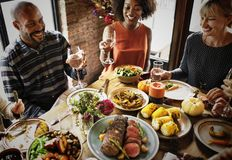 Free People Are Celebrating Thanksgiving Day Royalty Free Stock Images - 101678759