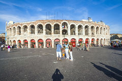 People at the arena of Verona Royalty Free Stock Photography