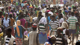 People from Ari tribe at village market. Bonata. Omo Valley. Eth Royalty Free Stock Photography