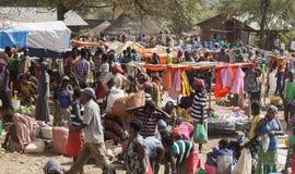 People from Ari tribe at village market. Bonata. Omo Valley. Eth Royalty Free Stock Image
