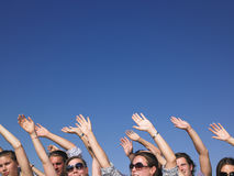 People With Arms Raised Royalty Free Stock Photography