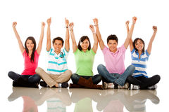 People with arms up Royalty Free Stock Photo