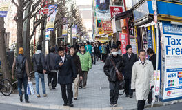 People  around Akihabara Royalty Free Stock Photography