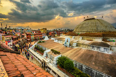People around Boudhanath  Stupa in Kathmandu, Nepal Royalty Free Stock Photo