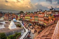 People around Boudhanath  Stupa in Kathmandu, Nepal Stock Image