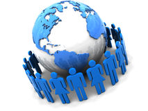 People Around Earth Stock Photography