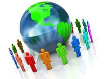 People Around Earth Stock Image