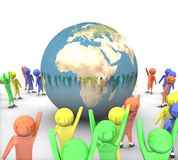 People around the earth Royalty Free Stock Image