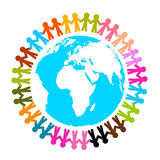 People Around Earth - Globe Vector Stock Images