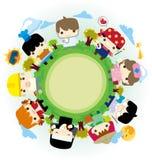 People around the globe Royalty Free Stock Image