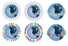 People around the globe Stock Photo
