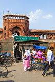 People around Jama Masjid Mosque, Royalty Free Stock Photos