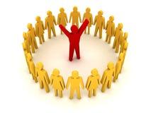 People around leader. Success. Stock Photos